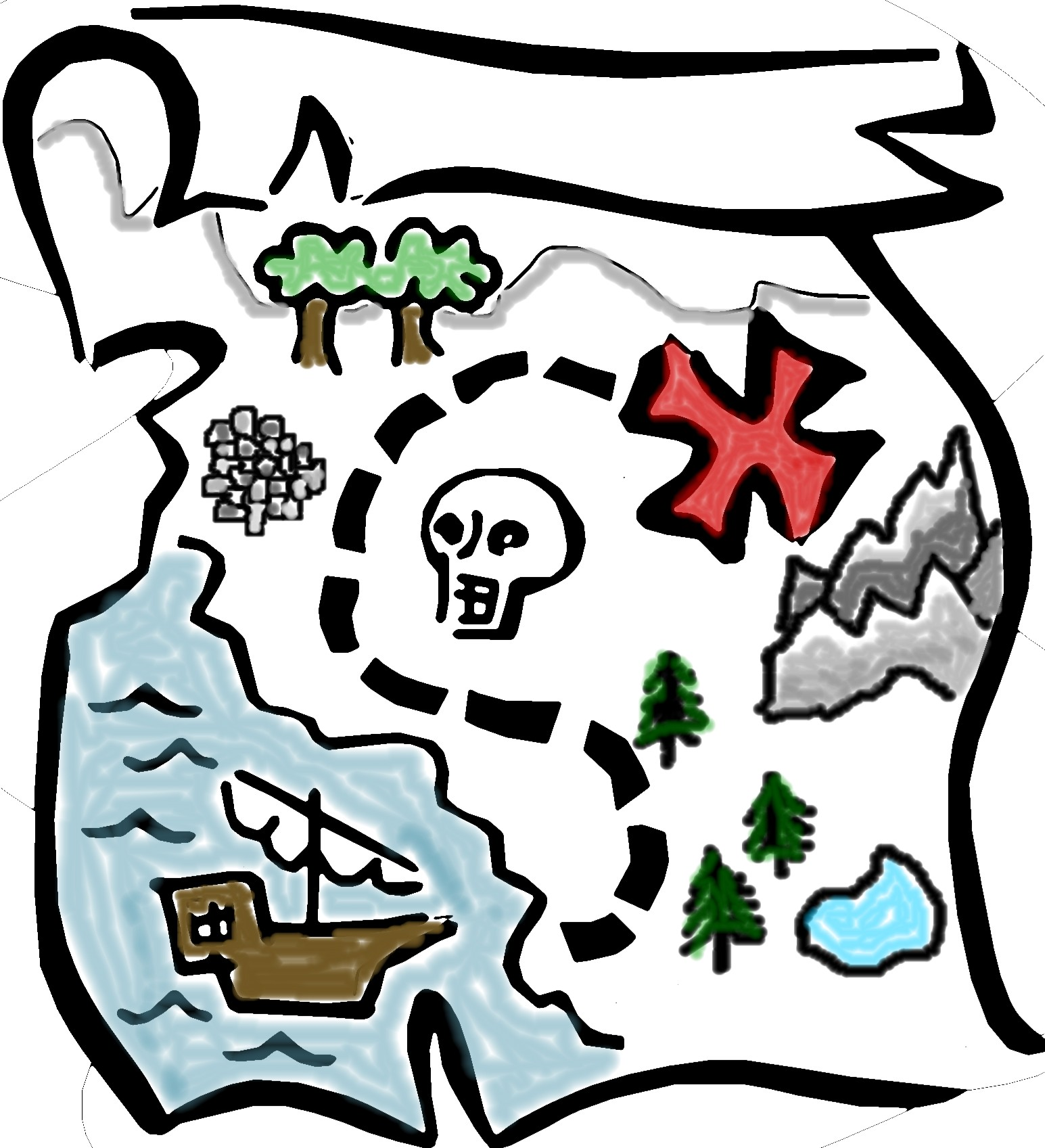 Treasure clipart buried treasure Map Panda Treasure Clipart Clipart