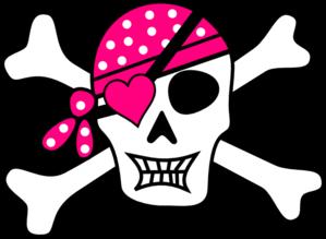 Ssckull clipart pirate skull Clip at Bones Pink art