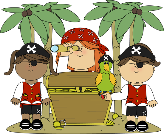 Treasure clipart pirate treasure Art Pirate Treasure Pirate Girls