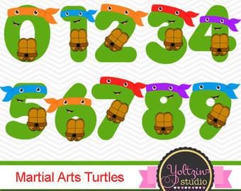 Pirate clipart turtle / Numbers clipart Ninja Clipart