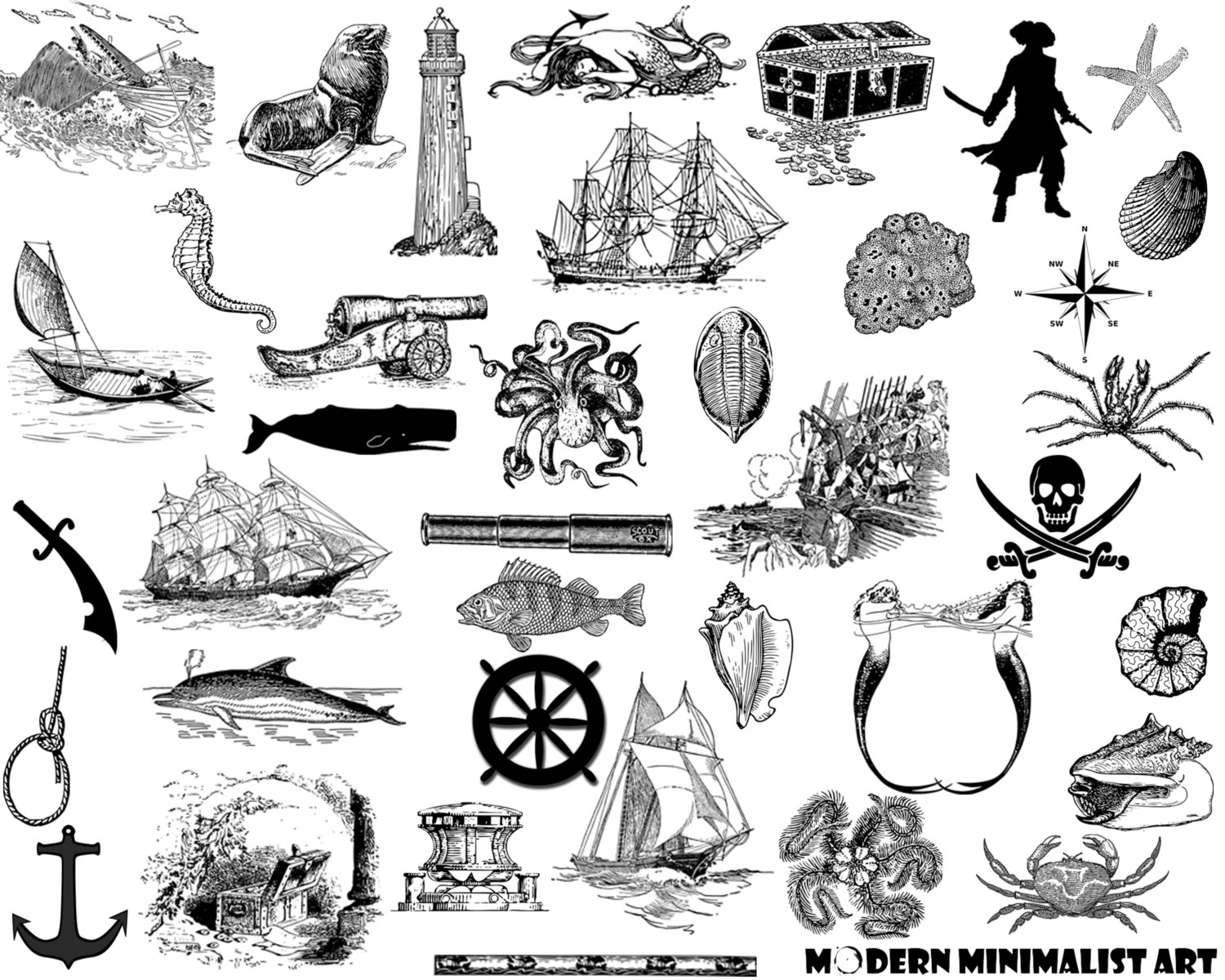 Windows clipart pirate ship Clipart Pirate Etsy Ships Vintage