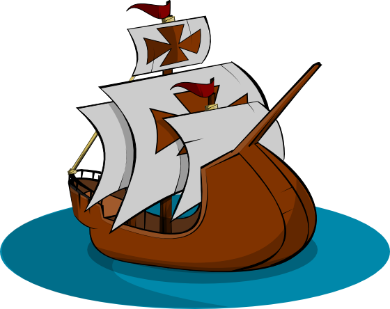 Sailing Boat clipart columbus ship Pictures free white graphics clipartix