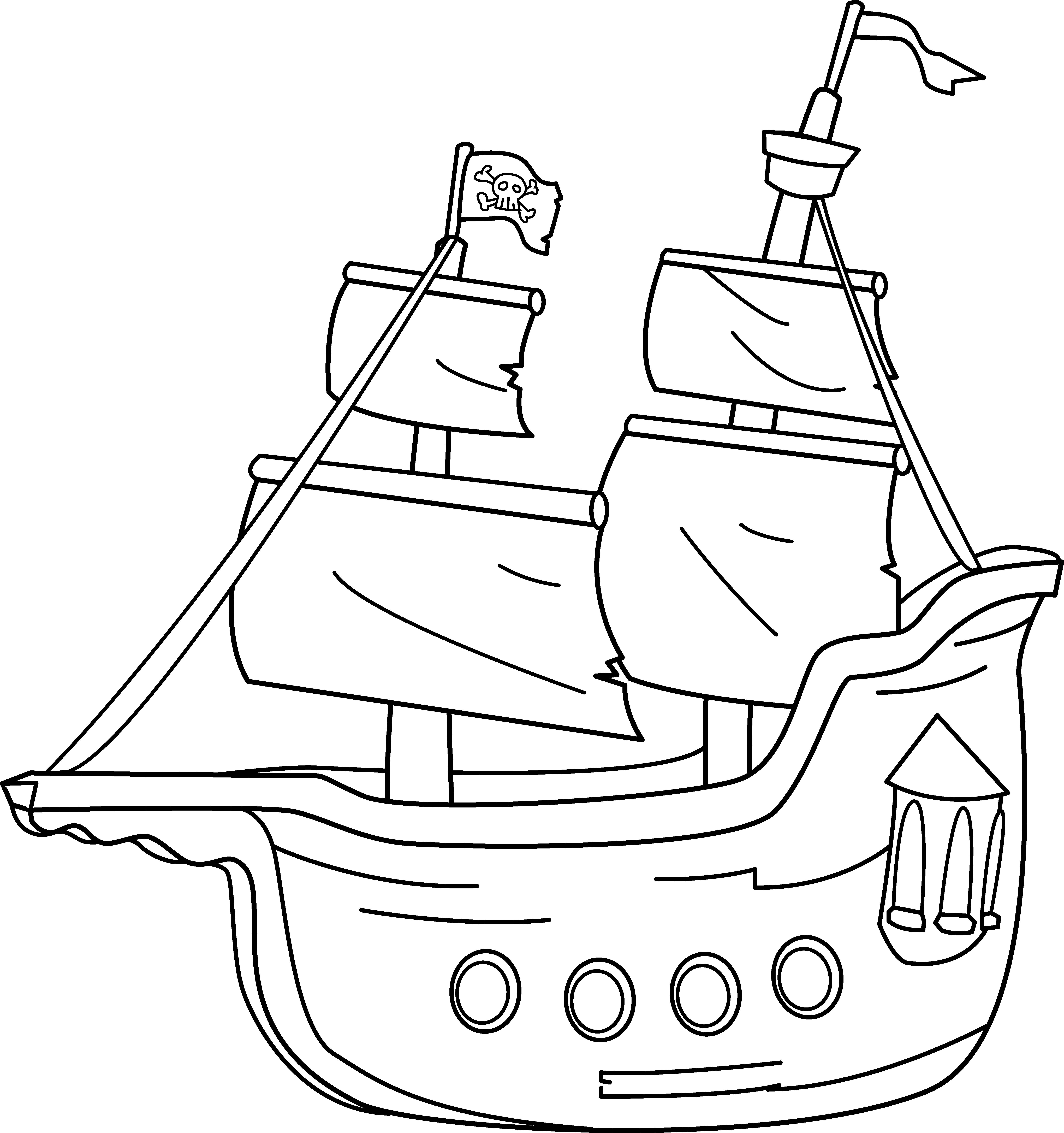 Sailing Ship clipart pirate ship Ship Coloring Free Ship Pirate