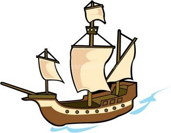 Boat clipart old fashioned Vector ship Pirate clipart kid