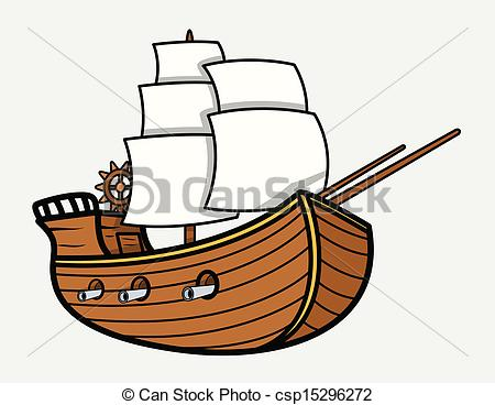 Drawn yacht the sea clipart  Old Sea Drawing Vector