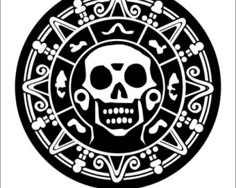 Pirates Of The Caribbean clipart black and white Medallion car Pirate sticker decal