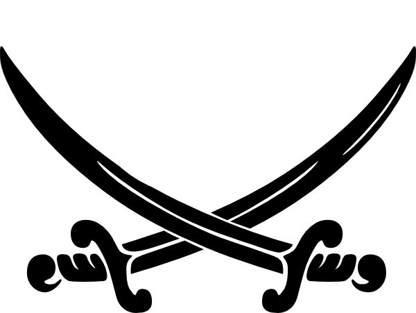 Pirates Of The Caribbean clipart black and white Clip Art Pirates Clip Caribbean
