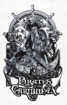 Pirates Of The Caribbean clipart black and white The for of Dead Disney's