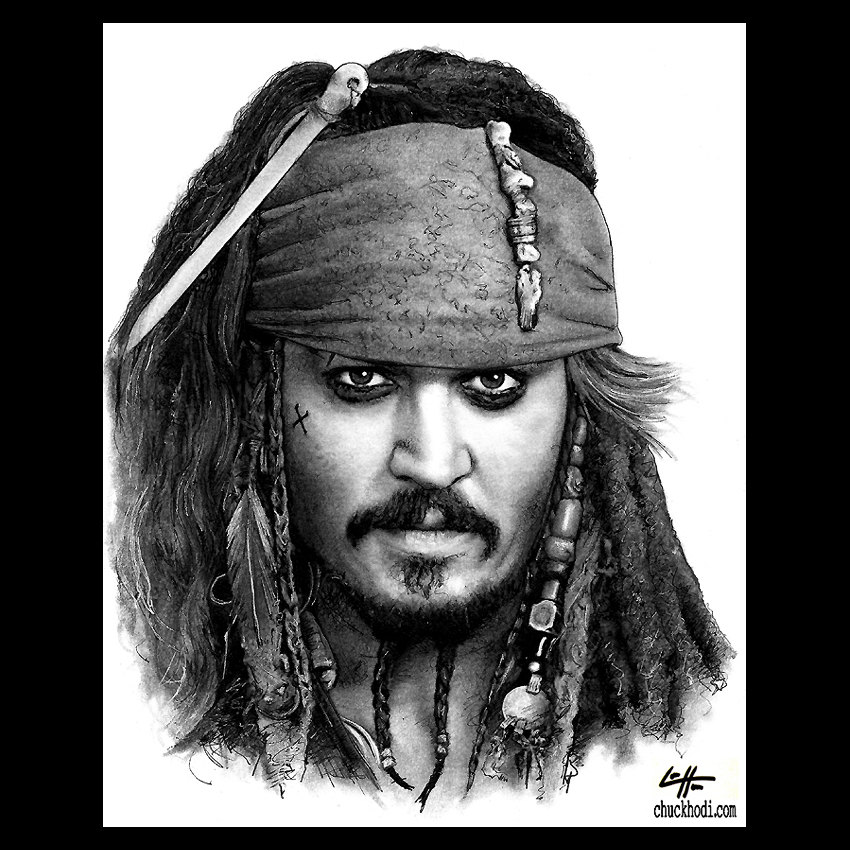 Pirates Of The Caribbean clipart black and white Jack Pirates Print Sparrow Jack