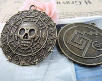 Pirates Of The Caribbean clipart compass Bronze Charm of Cool 3pcs
