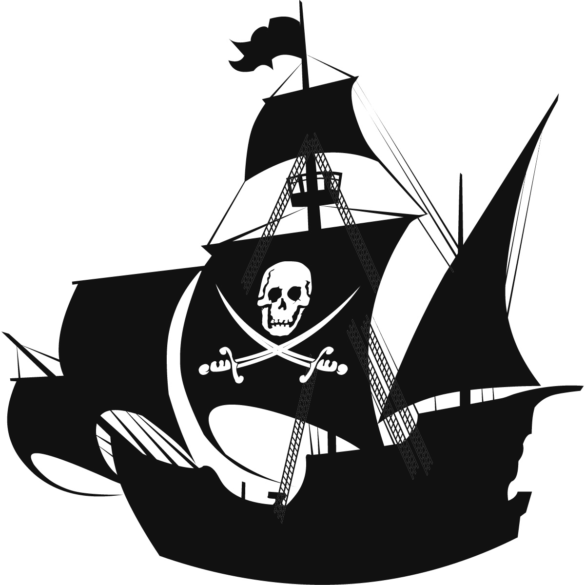 Windows clipart pirate ship  Wall Pirates eBay SHIP