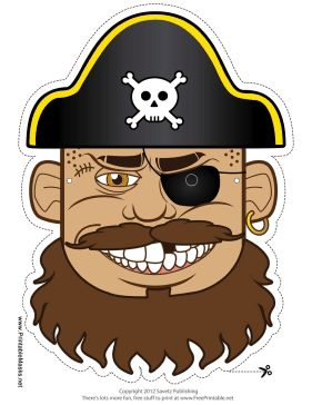 Pirates Of The Caribbean clipart pirate face Pirate on Mask to Pinterest