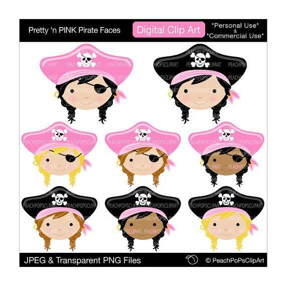 Pirates Of The Caribbean clipart pirate face Cute Piratas digital art on