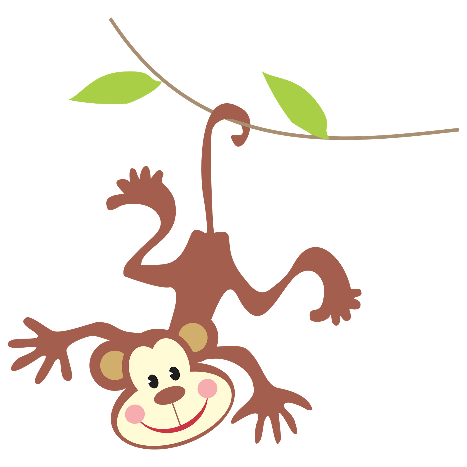 Safari clipart rainforest monkey Clipart Clip monkey Baby Art
