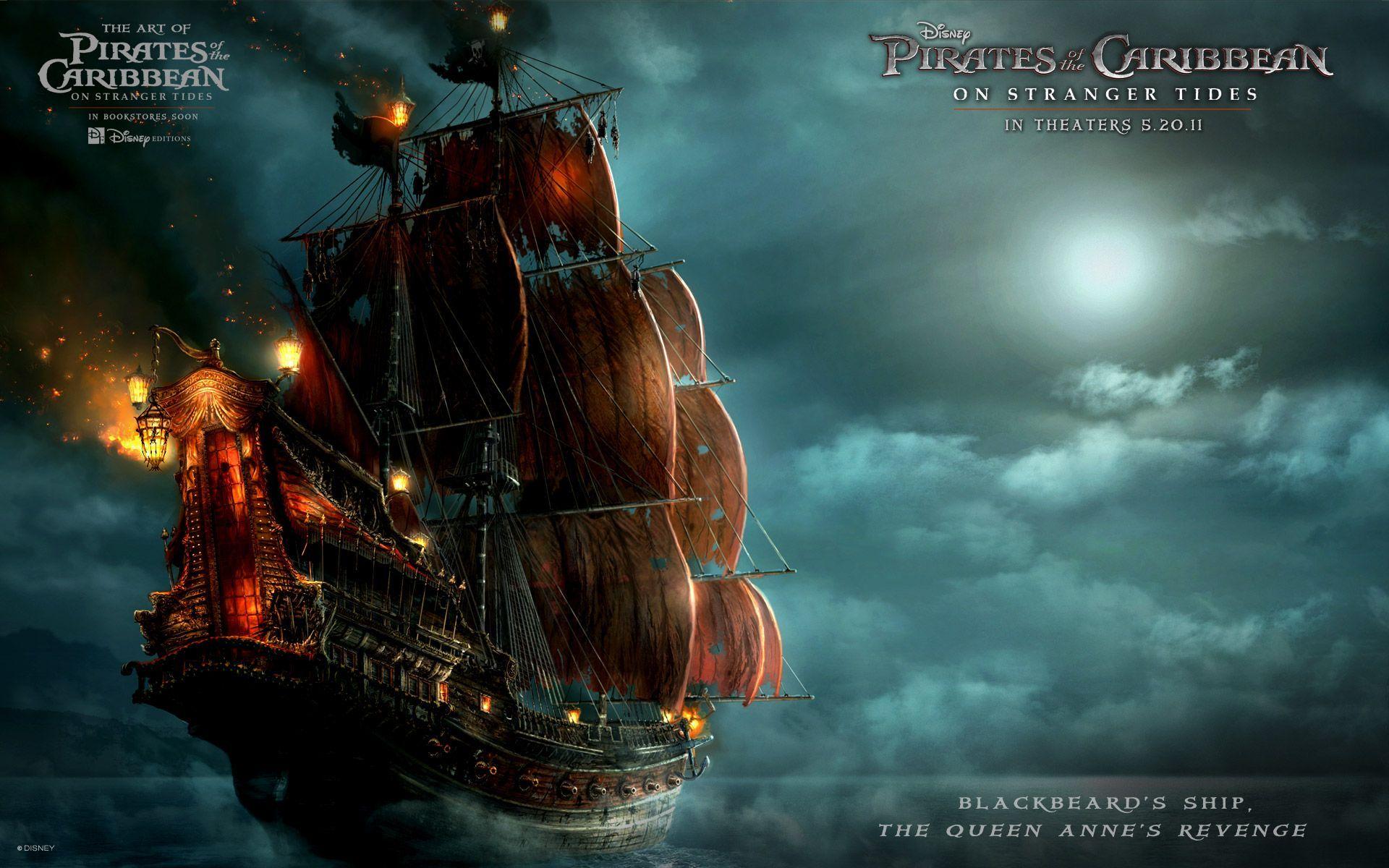 Pirates Of The Caribbean clipart pirate ship HD  Wallpaper Blackbeard's in