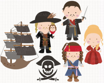 Caribbean clipart pirate map Caribbean of pirates art