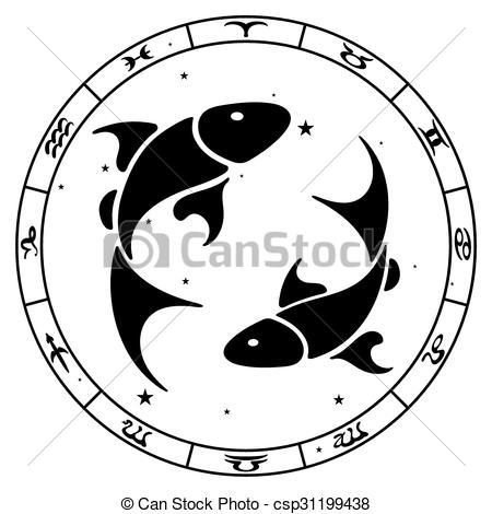 Pisces clipart Vector zodiac sign vector Pisces