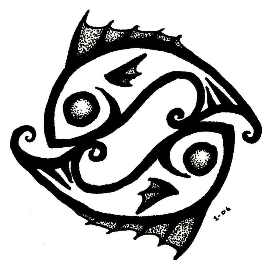 Pisces clipart Zodiac Pisces  Fishes Design