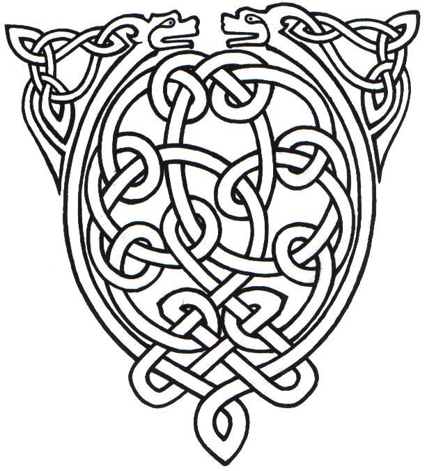 Drawn snake celtic knot On Animal vikings about Knot