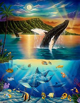 Pisces clipart hawaiian art Hawaii dolphin art artists hawaiian