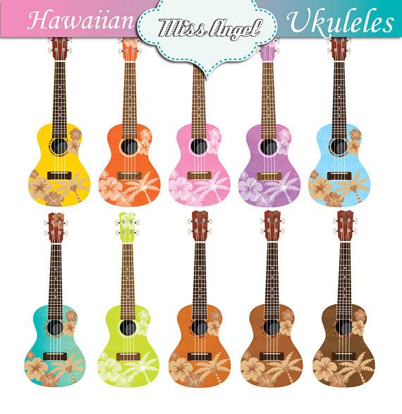Pisces clipart hawaiian art Clip Hawaiian ukuleles ukulele clip