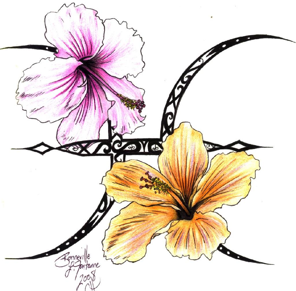 Pisces clipart hawaiian art Free of Art Design Designs
