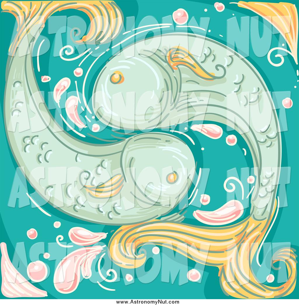 Zodiac clipart fish A Design  Clipart by