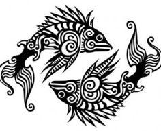 Pisces clipart maori #10