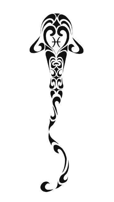 Pisces clipart maori #14