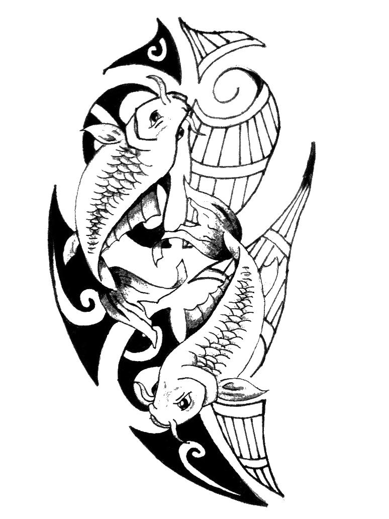 Pisces clipart maori #15