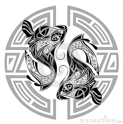 Pisces clipart maori Sign with Pisces of with