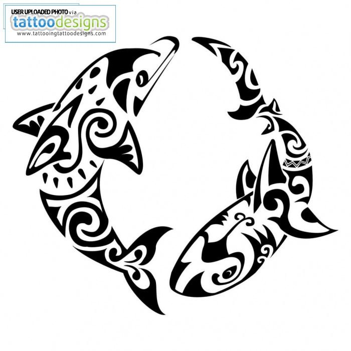 Pisces clipart maori Of outside shoulder? a on