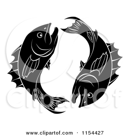 Astrology clipart fish White Astrology Clipart of Zodiac