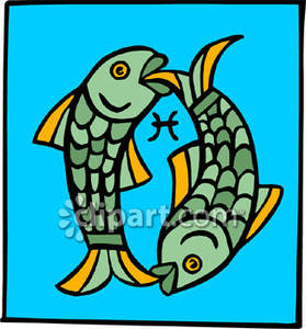 Pisces clipart two Pisces Royalty Fish Clipart With