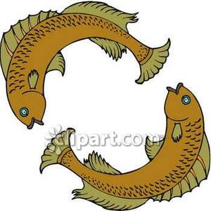 Pisces clipart two Royalty Two  Swimming Fish