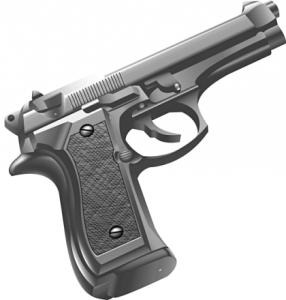 Pistol clipart 30 mm Clip Download Pistol M9 Page