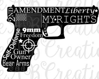 Pistol clipart 30 mm Gun Second 9 Etsy Pistol