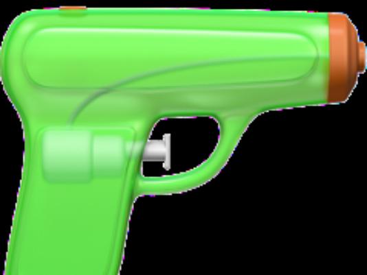 Pistol clipart 30 mm Gun pistol with Apple green