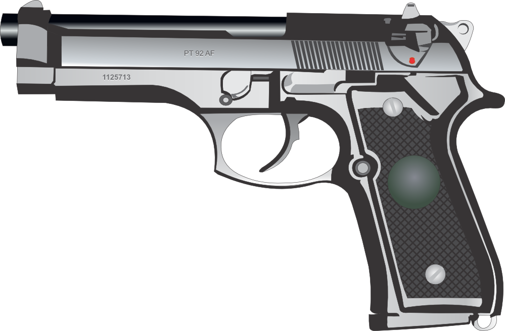 Pistol clipart 30 mm Coloring  Pistol png Colouring