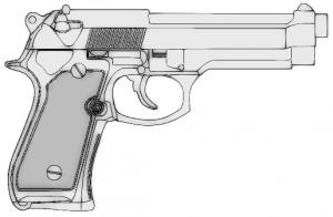 Pistol clipart Clipart Clip 9mm Pistol Art