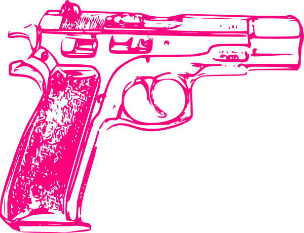 Rifle clipart pink  at Clip com online