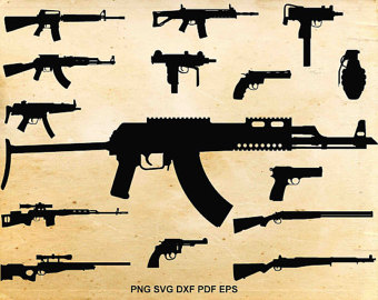 Rifle clipart weapon #10