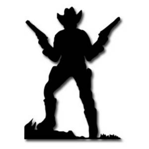 Wild West clipart black and white #9