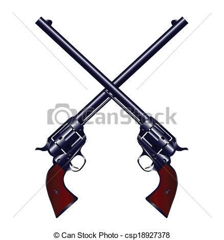 Rifle clipart two gun Crossed Crossed six of Guns