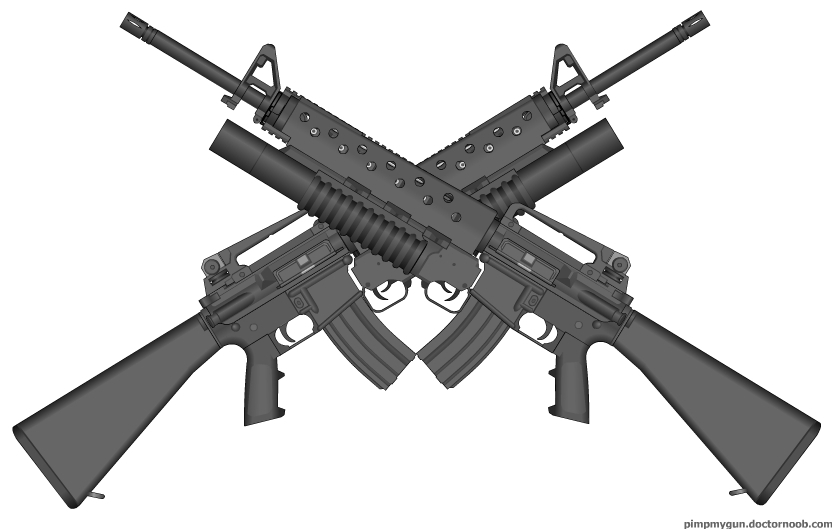 Sniper clipart crossed rifle Others Guns and Cliparts Crossed