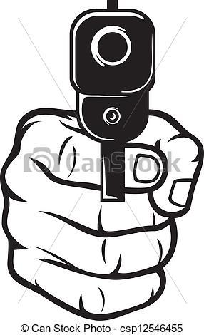Violence clipart shooting gun With (pistol)  gun hand