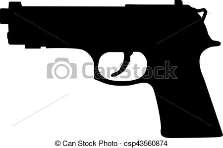 Violence clipart handgun  Search Illustration of Gun
