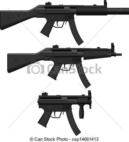Assault Rifle clipart machine gun #3