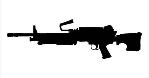 Assault Rifle clipart gun silhouette #1
