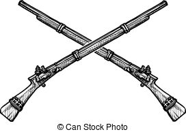 Pistol clipart musket Lady musket a of Vector